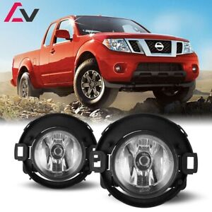 For Nissan Frontier 10 19 Clear Lens Pair Oe Fog Light Lamp Wiring Switch Kit