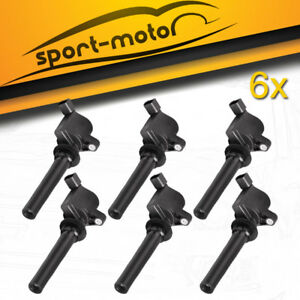 Set Of 6 Ignition Coils On Plug Pack For Mercury Mariner Monte 3 0l V6 Fd 495