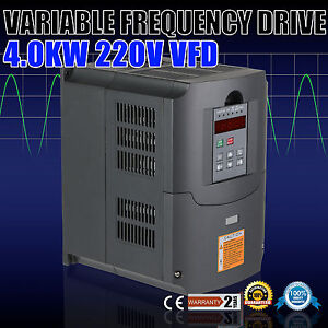 4kw 220v 5hp Vfd Single Phase Variable Speed Drive Inverter Variable Frequency