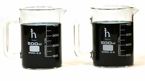 Beaker Mugs Laboratory Borosilicate 16 9oz 500ml Capacity Pk Of 2 Mugs