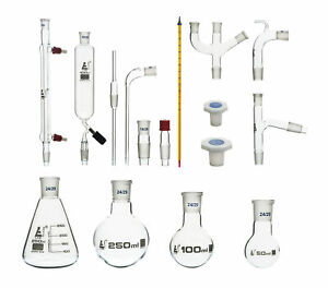 Organic Chemistry Distillation Glassware Set 17 Piece 22 Fittings
