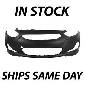 Primered Front Bumper Cover For 2012 2013 Hyundai Accent Sedan Hatch 12 13