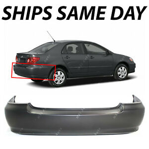 New Primered Rear Bumper Cover For 2003 2008 Toyota Corolla Sedan 03 08
