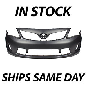 New Primered Front Bumper Cover For 2011 2013 Toyota Corolla S And Xrs To1000373