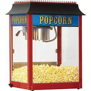 1911 Antique style 8 oz Popcorn Machine Red 147 Servings An Hour