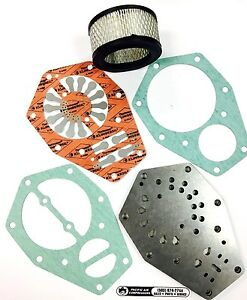 Speedaire Tf007000aj Air Filter 3z492 Valve Plate Assembly Gasket Rebuild