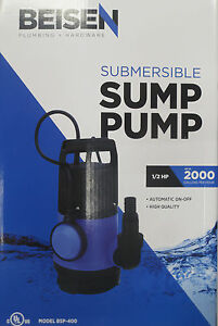 Beisen 2000gph 1 2hp Clean Dirty Water Submersible Pump