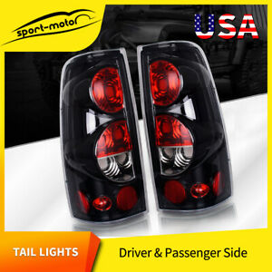 Tail Lights For 99 06 Chevy Silverado 99 03 Gmc Sierra Black Clear Rear Lamp L R
