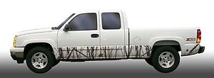 Snow Camo Camouflage Rocker Panel Graphic Decal Wrap Kit Truck Suv