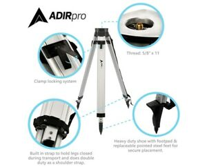 Adirpro Black Flat Head Aluminum Tripod Survey Contractor Laser Auto Level