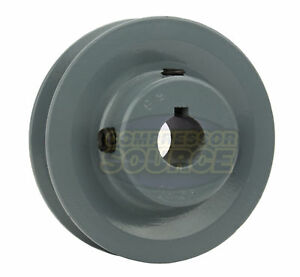 3 Cast Iron 5 8 Shaft Pulley Sheave Single 1 Groove V Style A Belt 4l New