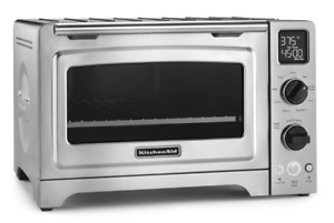 Kitchenaid 12 Convection Bake Digital Countertop Oven Stainless Steel New