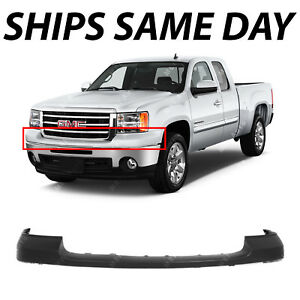 New Primered Front Bumper Top Cover Pad For 2007 2013 Gmc Sierra 1500 Pickup