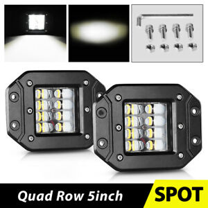 Single Row Led Light Bar 6inch 48w Spot Offroad Bumper Driving 4wd Marine Pickup