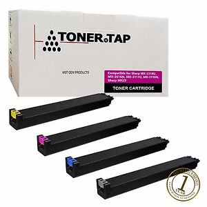 Toner Tap Compatible Sharp Mx 2310 Mx 2616n Mx 3111u Mx 3116n Mx 23nt 4 Pack