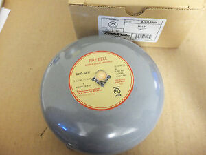 New Edwards Bell 6 20 24vdc Grey 439d 6aw Fire Bell Fire Alarm