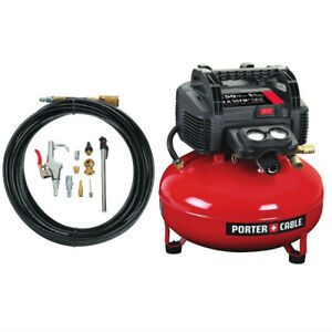 Porter cable 6 Gal Pancake Air Compressor And Accessory Kit C2002 wk Refurb
