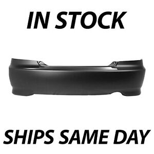 New Primered Rear Bumper Cover Fascia For 2004 2005 Honda Civic Coupe 04 05