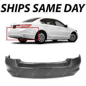 New Primered Rear Bumper Cover For 2008 2009 2010 2011 2012 Honda Accord Sedan