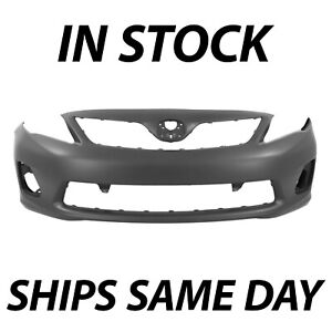 New Primered Front Bumper Cover Fascia For 2011 2012 2013 Toyota Corolla Sedan