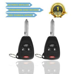 2 New Remote Head Keyless Entry Combo Transmitter Uncut Key Fob For Kobdt04a Us