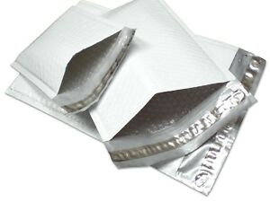 Polycyberusa 500 Pcs 0000 Poly Bubble Envelopes Mailers 4 X 7 inner 4x6 Ag
