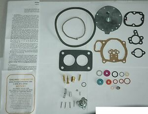 1952 55 Carb Kit Ford Truck 8 Cyl Holley Model 1901ffg 2 Barrel Ethanol Tolerant