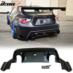 Fits 13 17 Scion Frs Subaru Brz Gr Rocket Bunny Rear Bumper Diffuser Lip Abs