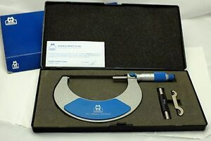 Moore Wright Outside Micrometer 75 100 Mm 0 01 Mm Excellent W Box
