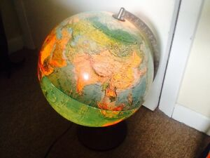 Vintage 1972 Scan Globe A S Spot Scan Illuminated Made In Denmark Rare
