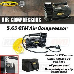 Smittybilt Air Compressor 5 65 Cfm Portable Kit 12 Volt W Nylon Bag 24 Hose