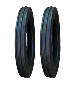 2 New Ford 8n 9n 4 00 19 4 19 C m Front Tractor Tires 400 19 4 19 Free Shipping