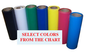 5rolls Pack 15 x3ft Heat Transfer Pu Vinyl W Sticky Back 38colors cutter press
