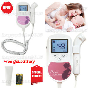 Ce fda 3mhz Fetal Doppler Prenatal Heart Rate Monitor Baby Monitor gel battery