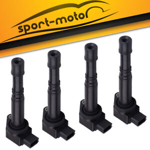 Set Of 4 Ignition Coils On Plug Pack For 2003 2006 Honda Accord 2 4l I4 Uf311