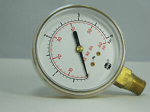 Pressure Gauge 167178a 2 1 2 P612k 60 Psi bar 1 4 Lmc