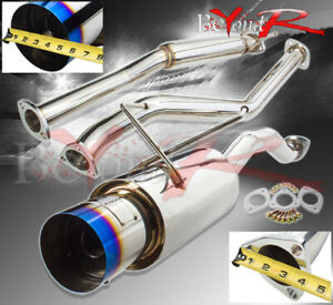 N1 Catback Exhaust 4 5 Burnt Tip Muffler System For 01 05 Honda Civic 1 7l Vtec