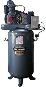 New Saylor beall 5 Hp Splash Lub Two Stage Elec Motor Vertical Tank 1 Phase