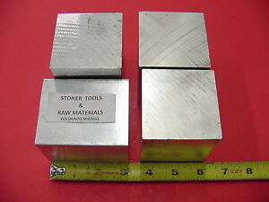 4 Pieces 2 1 2 X 2 1 2 Aluminum 6061 Square Solid Bar 3 Long T6511 Mill Stock