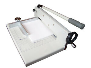 New 12 Manual Stack Paper Cutter Trimmer Heavy Duty Capacity Up To 400 Sheets