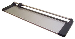 New 33 Manual Rotary Paper Cutter Trimmer Wide Format 1 Spare Blade