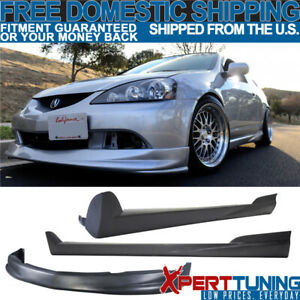Fit Acura Rsx 05 06 Pu P1 Style Front Bumper Lip Spoiler Mugen Side Skirt