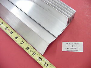 6 Pieces 2 x 2 x 1 8 Aluminum 6061 Angle Bar 10 Long T6 Extruded Mill Stock