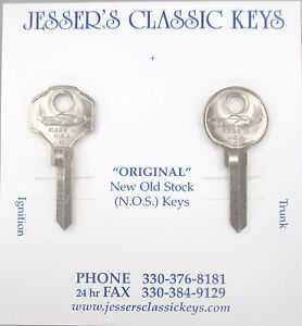 Vintage Lincoln Mercury Nos Nickel Key Set 1949 1950 1951 Futuristic Car