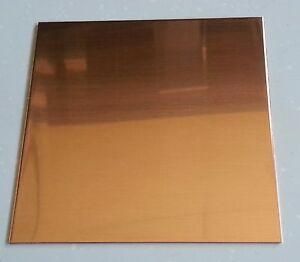 Copper Sheet Plate 021 24 Gauge 6 X 6