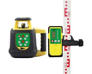 Adirpro Hv8gl Rechargeable Batteries Green Beam Self Leveling Rotary Laser Level