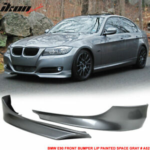 Fits 09 12 Bmw E90 Front Bumper Lip Splitter 2pc Painted Space Gray A52 Pp