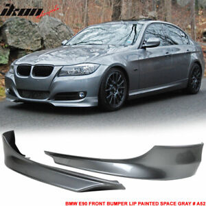 Fits 09 12 Bmw E90 Front Bumper Lip Splitter Painted Space Gray A52