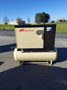 Used 7 5 Hp Ingersoll Rand Up6 Full Feature With Dryer And Filters 230 Volt 1 Ph