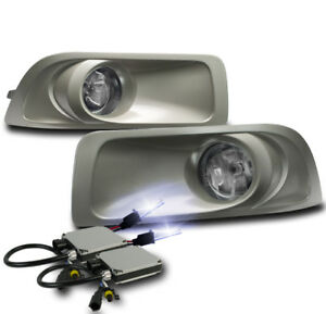 Chrome Bumper Driving Fog Lights Lamp W 10k Xenon Hid For 2010 2011 2012 Outback